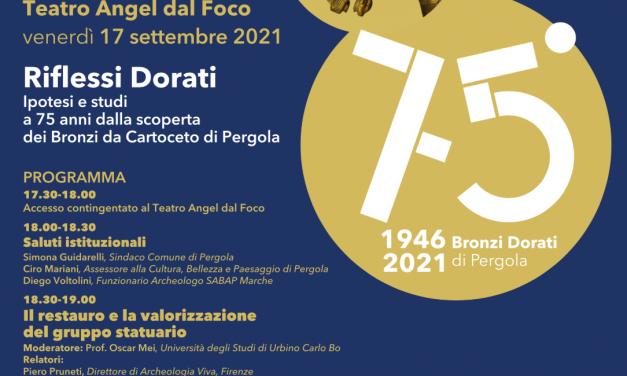 Pergola festeggia il 75° anniversario del rinvenimento dei Bronzi dorati da Cartoceto